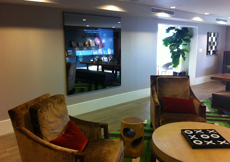 mirror tv lobby