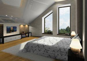 mirror tv bedroom