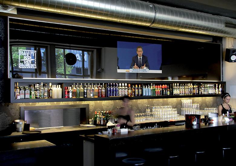 mirror tv cafebar