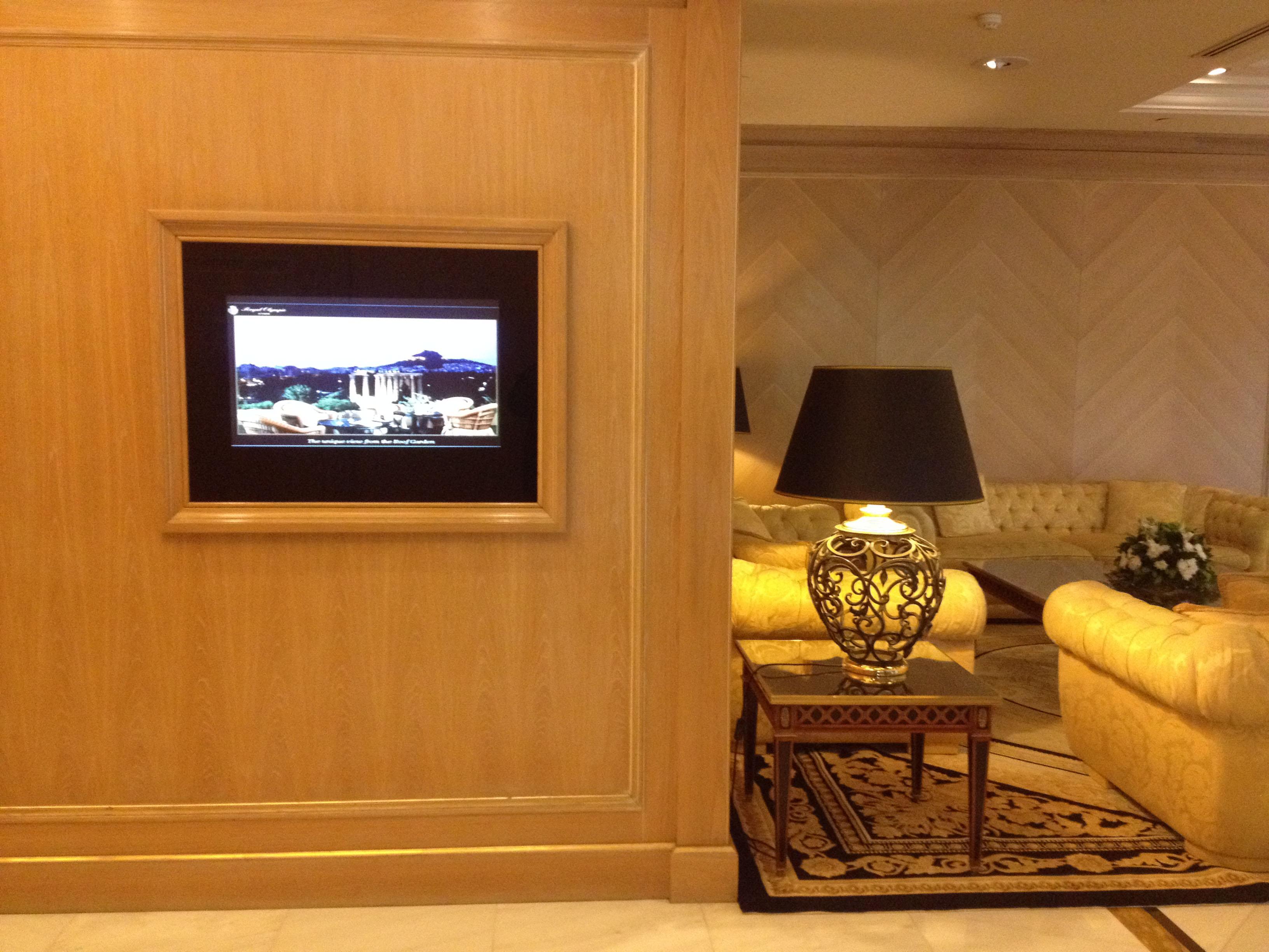 mirror tv hotel lobby